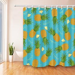 TANSTAN Pineapple with Leaves in Blue Waterproof Fabric Show