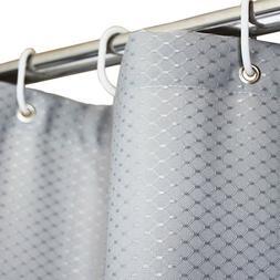 "Tektrum 36""x72"" Waffle Jacquard Shower Curtain Waterproo"