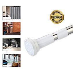 BEOKREU Shower Curtain Rod Easy Installation Spring Tension