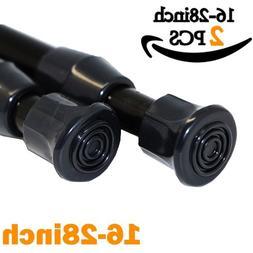AIZESI 2PCS Tension Rod Tier Window Short Curtain Rod,16 to