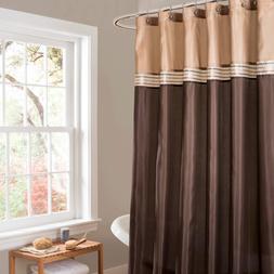 Lush Decor Terra Shower Curtain 72 Inch Brown Beige