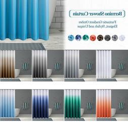 Textured Fabric Bath Shower Curtain for Bathroom with 12 Hoo