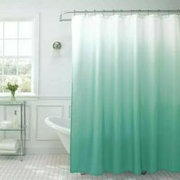 Textured Shower Curtain Beaded Rust Resistant Metal Rings Fa