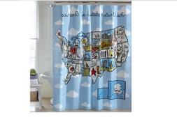 Excell The United States Of America Vinyl Shower Curtain Met