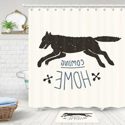 The Wolf Is Coming, Go Home Shower Curtain Bathroom Decor Fa