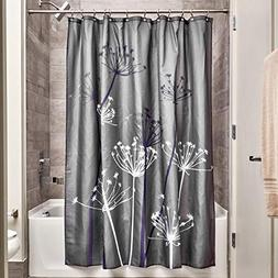InterDesign Thistle Fabric Shower Curtain - 72 x 72-Inch, Gr