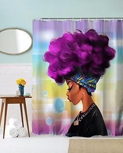 Get Orange Traditional African Black Women With Purple Hair