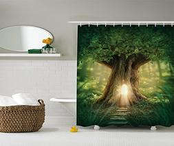 tree life shower curtain bohemian