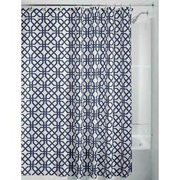 "InterDesign Trellis Fabric Shower Curtain - 72"" x 72"", Navy"