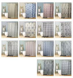 Fabric Canvas Shower Curtain Trendy Bathroom Decor Floral Be