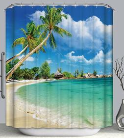Tropical Beach Palm Tree Island Vacation Paradise Fabric SHO
