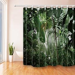 NYMB Tropical Plants Decor Jungle Green Banana Leaves Shower
