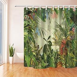 NYMB Tropical Rainforest Decor, Animals in the Palm and Bana