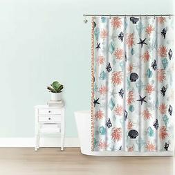 70 x 72 Splash Home Akita Polyester Fabric Shower Curtain Black