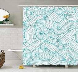Ambesonne Turquoise Decor Collection, Abstract Pattern with