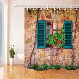 tuscan decor shower curtain