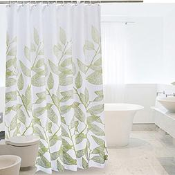 Ufatansy Uforme Light Green Leaves Shower Curtain Polyester