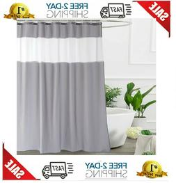 UFRIDAY Shower Curtain Grey and White, Modern Fabric Shower