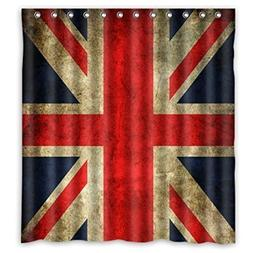 Shower Curtain Union Jack Flag Bathroom Decorative 180 x 180