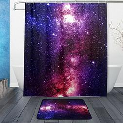ALAZA Set of 2 Universe Galaxy Space 60 X 72 Inches Shower C
