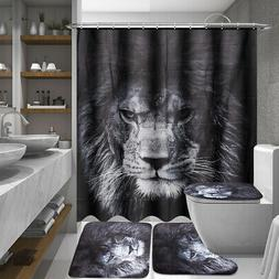 US Bathroom Toilet Seat Lid Lion Cover Shower Cushion Mats H
