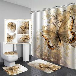 us butterfly shower curtain anti slip bath