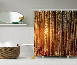 Ambesonne USA National Park Decor Shower Curtain by, Tall Tr