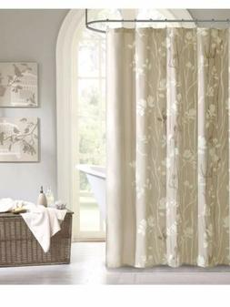 """Madison Park """"Vaughn"""" Floral Tree Naturals Taupe Shower"""