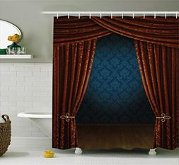 Ambesonne Victorian Decor Shower Curtain Set, Grand Opening