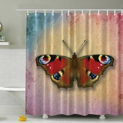 Ambesonne Vintage Butterfly Print Shower Curtain