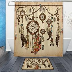 WOZO Vintage Ethnic Dreamcatcher Polyester Fabric Bathroom S
