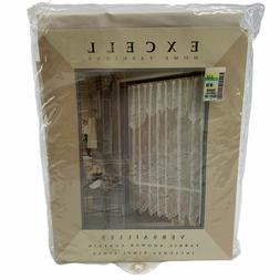 """Vintage Excell Fabric Shower Curtain Versailles 70"""" x 72"""" w/"""