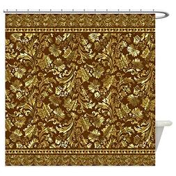 CafePress - Metallic Gold Brown Vintage Floral Damasks And L
