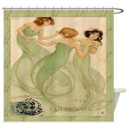 CafePress Vintage French Mermaid Shower Curtain