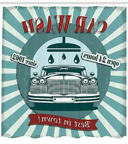 Vintage Graphic Design of Car Wash Sign Retro Themed Print S