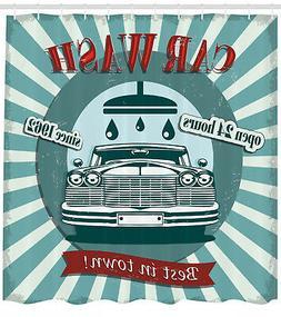 vintage graphic design of car wash sign