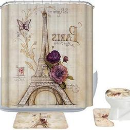 Amagical 16 Piece Vintage Paris Brown Eiffel Tower Bathroom