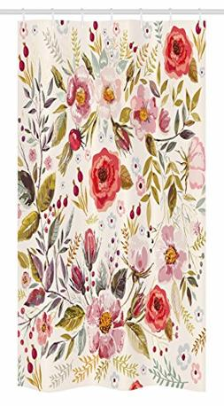 Ambesonne Vintage Stall Shower Curtain by, Floral Theme Hand