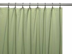 Vinyl Shower Curtain Liner, Sage