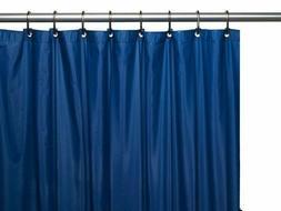 Vinyl Shower Curtain Liner, Navy