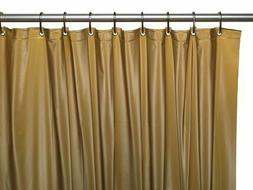 Vinyl Shower Curtain Liner, Gold