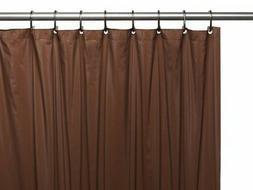 Vinyl Shower Curtain Liner, Brown