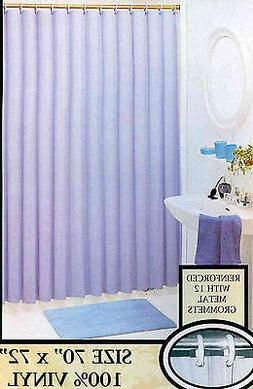 SOLID COLOR VINYL SHOWER CURTAIN LINER WITH MAGNETS AND META