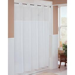 Hookless HBH49MYS01SL74 Illusion Shower Curtain With Snap In