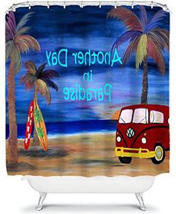 Vw Beach Bus Beach House Shower Curtain