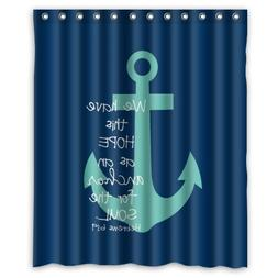 "60"" x 72"" Cute Bible Verse Shower Curtain, We Have This Hope"