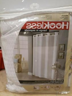 Hookless Waffle 71 In. X 86 In. Long Fabric Shower Curtain -
