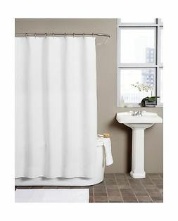 Hermosa Collection Waffle Fabric Shower Curtain