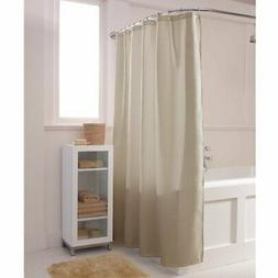 waffle solid tan fabric shower curtain