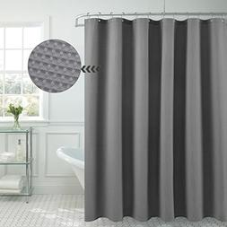 waffle weave fabric shower curtain